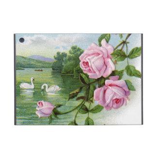 Rosas y cisnes del vintage iPad mini protector