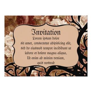 """Rosas y espinas antiguos invitación 5.5"""" x 7.5"""""""
