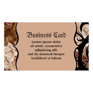 Rosas y espinas antiguos tarjetas de visita
