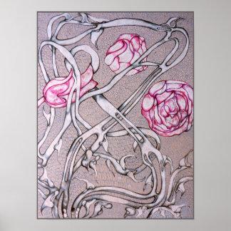 Rosas y espinas poster