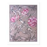 Rosas y espinas postal