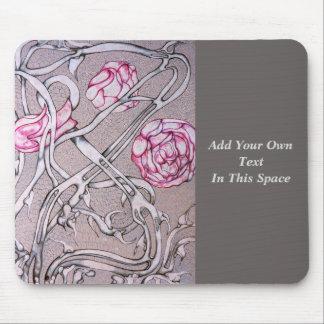 Rosas y espinas rosados alfombrillas de raton