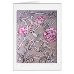 Rosas y espinas tarjetas