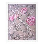 Rosas y espinas tarjetas publicitarias
