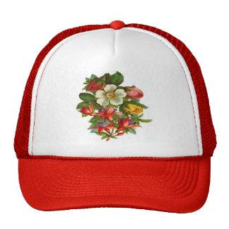 Rosas y flores coloridos gorra
