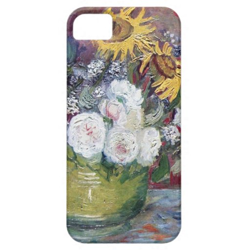 Rosas y girasoles de Van Gogh iPhone 5 Carcasa