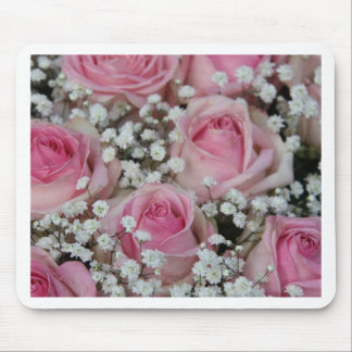 rosas y gypsophila rosados por Therosegarden Tapete De Raton