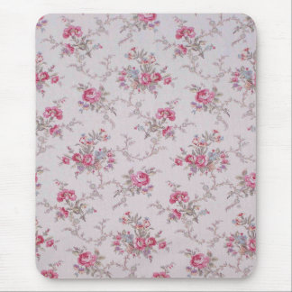 Rosas y hojas suaves hermosos del vintage mousepad
