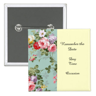 Rosas y lilas de la col del vintage pin cuadrado