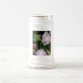 Rosas y lirios tazas de café