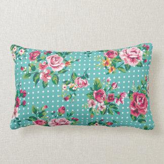 Rosas y lunares lindos almohadas