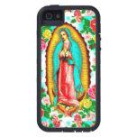 ROSAS Y MADONNA DE LA CUBIERTA DE GUADALUPE.TOUGH  iPhone 5 Case-Mate CÁRCASA