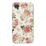 Rosas y magnolias iPhone 4 carcasa
