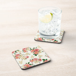 Rosas y magnolias posavasos de bebida