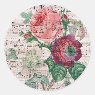 Rosas y Music.jpg Etiquetas Redondas