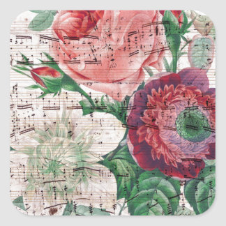 Rosas y Music.jpg Pegatinas Cuadradases Personalizadas