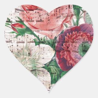 Rosas y Music.jpg Colcomanias De Corazon Personalizadas