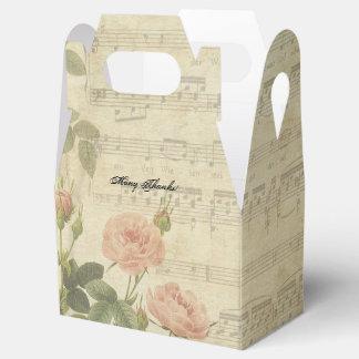 Rosas y música del Victorian personalizados Caja Para Regalos