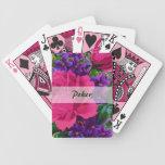 Rosas y naipes del póker de las violetas baraja de cartas