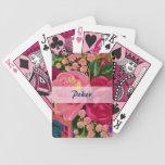 Rosas y naipes del póker del lirio de los valles baraja