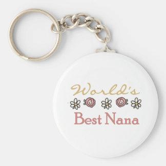 Rosas y Nana del mundo de las margaritas mejor Llavero Personalizado