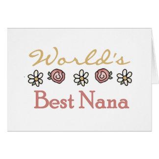 Rosas y Nana del mundo de las margaritas mejor Tarjeta De Felicitación