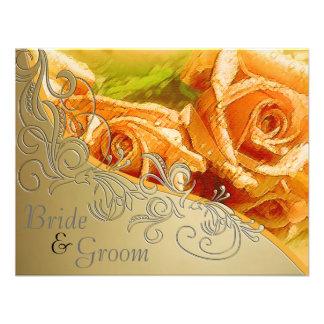 Rosas y oro del melocotón - el casarse echado a un