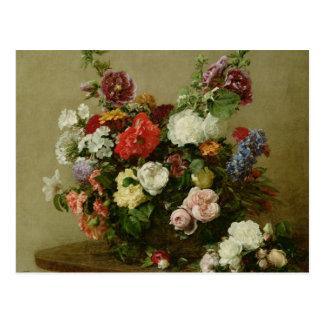 Rosas y Peonies franceses, 1881 Postales