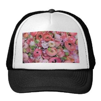 rosas y peonies rosados por Therosegarden Gorra