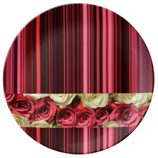 Rosas y rayas de color rosa oscuro por TheRoseGard