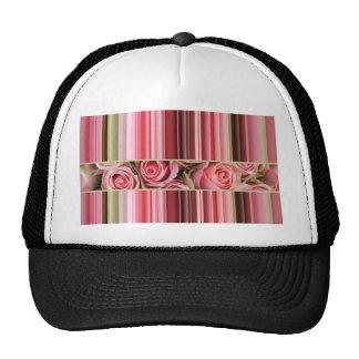 Rosas y rayas rosados por TheRoseGarden Gorros