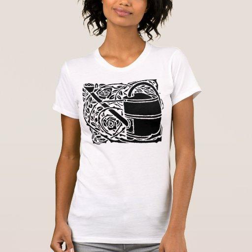 Rosas y regadera de Nouveau del arte Camisas