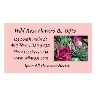 Rosas y Succulents Tarjetas De Visita