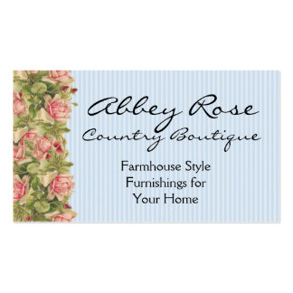 Rosas y tarjeta rosados de los fines generales de tarjetas de visita