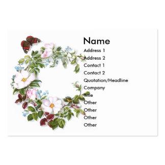 Rosas y tarjeta salvajes del comercio del Victoria Tarjeta Personal