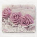 Rosas y todavía del cordón vida Mousepad
