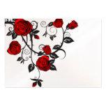 Rosas y vides plantillas de tarjeta de negocio