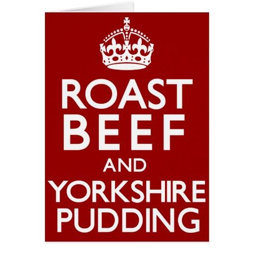 Rosbif y pudín de Yorkshire Tarjeta De Felicitación