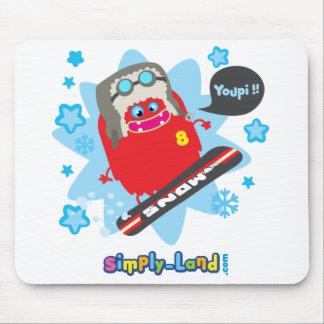 Rosco fait du snowboard mouse pad