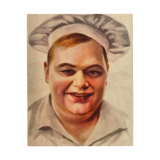 "Roscoe ""Fatty"" Arbuckle Wood Print"