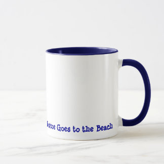 Roscoe goes to the Beach Mug