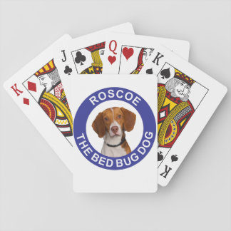 Roscoe the Bed Bug Dog Playing Cards