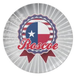 Roscoe, TX Dinner Plate