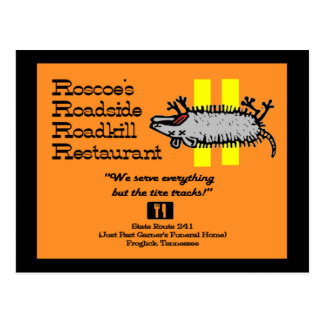 Roscoe's Roadside Roadkill Post Card