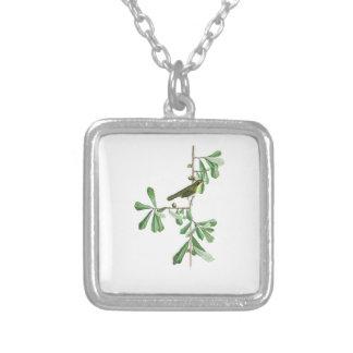 Roscoe's Yellow-throat John Audubon Birds America Square Pendant Necklace