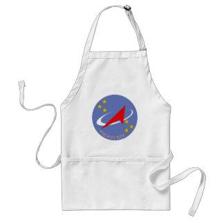 Roscosmos Flight Logo Round Adult Apron