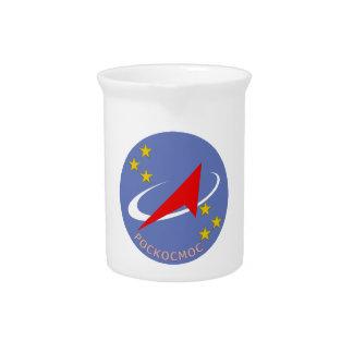 Roscosmos Flight Logo Round Beverage Pitcher