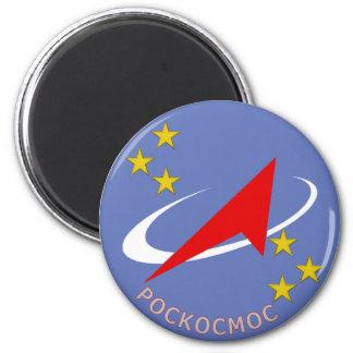 Roscosmos Flight Logo Round Magnet