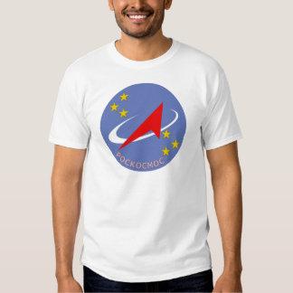Roscosmos Flight Logo Round T Shirt