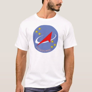 Roscosmos Flight Logo Round T-Shirt